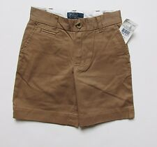 NWT Polo by Ralph Lauren Boys Brown Classic Shorts 2T Tan Dress Casual 24 Mos