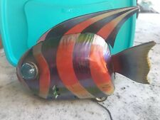 Vintage Tin Litho Toy Fish Wind Up Japan KO toys