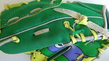 VTG Teenage Mutant Ninja Turtles Remco Left Handed Kid's Baseball Mitt Donatello