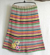 Moda International Skirt Crochet Multi-Color A-Lined Embroidery Trim Size XL