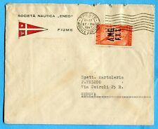 1948 TRIESTE P.AEREA RADIO £.20 ISOLATO  su lettera DOPPIO PORTO  (276991)