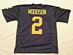 UNSIGNED CUSTOM Sewn Stitched Charles Woodson Blue Jersey - M, L, XL, 2XL