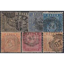 "Baden ""Wappen"" Nr. 9-15 gestempelt"