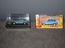 Lot 2 Voitures Miniatures  Renault 4 L 1962 / Vintage Bleue - 1/43 en Boîte