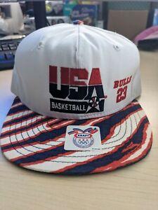 Vintage 1992 USA Olympics Basketball Dream Team Michael Jordan 23 Hat Cap Bulls