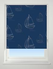 Universal Patterned Daylight Roller Blinds Navy Boats Width 120cm