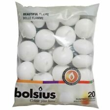 BOLSIUS FLOATING CANDLE WHITE PACK OF 20. 103632053702