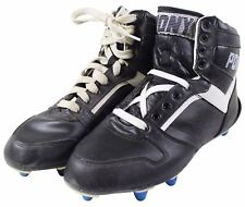 NEW VTG 90s PONY HIGH TOP FOOTBALL CLEATS Size 7 Black White NOS Deadstock