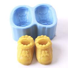 Baby Botines Silicona Jabón Molde r0106 libre de envío