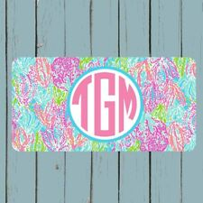 Personalized Monogram License Plate Car Tag Personalized Lilly Pulitzer Inspired