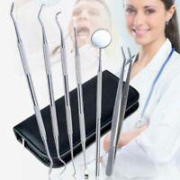 6Pcs Sainless Steel Dentist Tools Hygiene Teeth Oral Clean Tooth Dental Kit Set