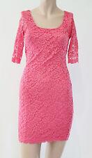 ASOS Petite Lace 3/4 Sleeve Scallop Hem Body Con Cocktail Party Dress sz 8 XS 6