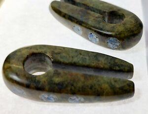 Pair of Spiral Taper Stretcher Expanders Jade Serpentine Lapislazuli Ear Plug