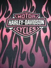 HARLEY DAVIDSON PINK FLAME PLUSH BLANKET - WARM  FUZZY SOFT 79 X 94 NEW