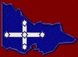SOUTHERN CROSS FLAG IN STATE OF VICTORIA SHAPE