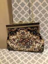 Vintage Tapestry Shoulder Or Clutch Bag
