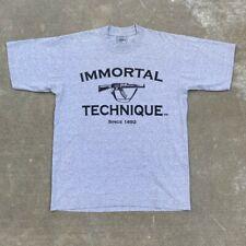Mid 2000s Immortal Technique Rap Tour T-Shirt Size L