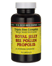 YS Eco Farms Triple Bee Complex:Royal Jelly Propolis Bee Pollen Ginseng Capsules
