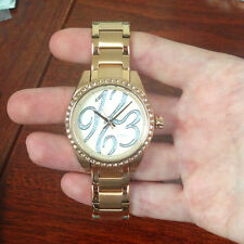 FOSSIL BQ1096 LADIES WATCH STELLA CARISSA ROSE GOLD FACE STEEL BRACELET CRYSTALS