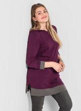 Sheego Strickkleid Gr.48+50 Kleid pink Damen Stricktunika Pullover Übergröße bee
