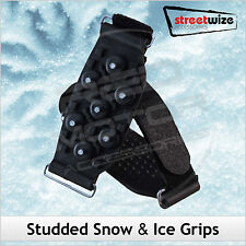 STREETWIZE Studded SNOW & ICE Shoe Boot GRIPS Pair Hiking Skiing