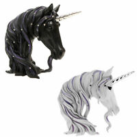 Jewelled Unicorn Head Bust Art Gifts Home Decoration Ornament Figurine Statue