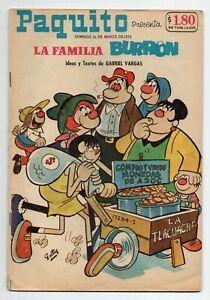 PAQUITO Presenta LA FAMILIA BURRON #17234-I Mexican Comic 1975
