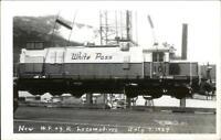 White Pass RR Train WP&YR Locomotive 1969 Real Photo Postcard