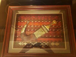 Framed Persian Dagger