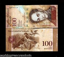 VENEZUELA 100 BOLIVARES P93 2015 BIRD ANIMAL UNC CURRENCY MONEY LATINO BANK NOTE