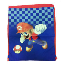 Backpack drawstring SUPER MARIO blue e red in cordura heavy 41,5x33 cm