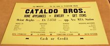 1930's-40's Trolley Ad-CATALDO BROS.-Orient Heights~E Boston~Jewelry-TV-Watches