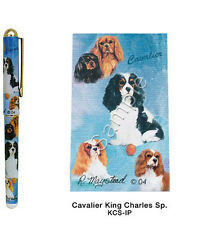 Cavalier King Charles Spaniel Dog Roller Ball Pen Designed by Ruth Maystead