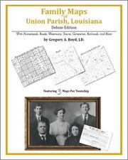 Family Maps Union Parish Louisiana Genealogy LA Plat