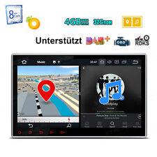 """Android 8.0 10.1"""" Autoradio 4GB RAM Octa Core USB DVD Navi Doppel 2DIN DAB+ OBD2"""