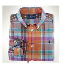 Ralph Lauren Langarm Jungen-Hemden aus 100% Baumwolle