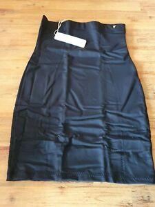 Weiß Elfenbein Schwarz Rutscht Unterrock Halb Taille Rock Übergröße 10-22