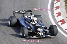 Elio De Angelis JPS Lotus 87 Dutch Grand Prix 1981 Photograph 1