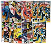 LOT Of 13 VTG 80s 90s SPIDER-MAN COMIC BOOKS Marvel Venom Amazing Spectacular
