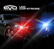 EVO Formance Universal LED Cop Strobe Light Headlight Kit Blue/Red for Car-Truck