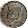 Hobo coin Kennedy skulls Half  silver plated  1964