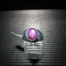 Ring, Gr. 59  Silber 925 mit einem Sternrubin Cabochon aus Indien