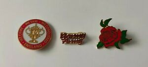 ICC ENGLAND CRICKET WORLD CUP RELATED VINTAGE BADGES RARE VGC