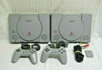 Sony Playstation 1 PS1 Console Dual Shock Controllers Memory TESTED - GUARANTEED