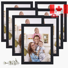 Picture Frames 8x10 Photo Frame Set for Wall or Tabletop, Black, 7 pcs