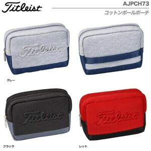 Titleist Japan Golf Round Cotton Pouch Ball Bag AJPCH73 With Tracking NEW