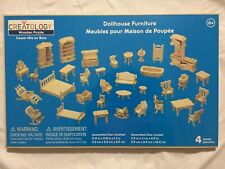 Creatology Wooden Puzzle Dollhouse Furniture 4 Sheets NEW