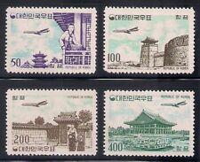 Korea 1961 Sc # C23-26 Airmail Mnh Xf (45825)
