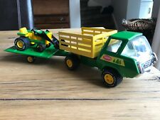Tonka Truck & Trailer With Tractor