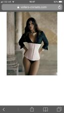 Vollers (was £150) Under bust Boned Corset New Size 16 18 Ivory Fully Adjus